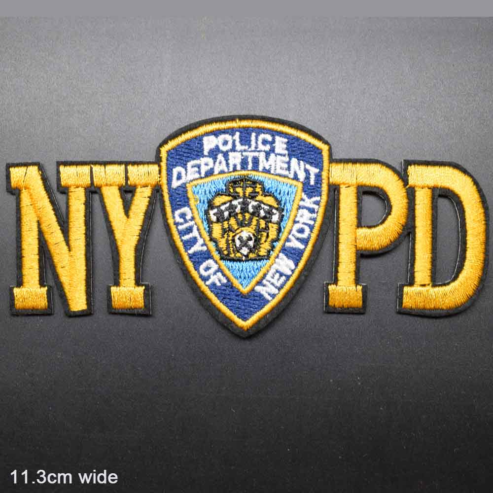 NYPD New York City Police Department Logo Badge Name Embroidered Iron On Patch