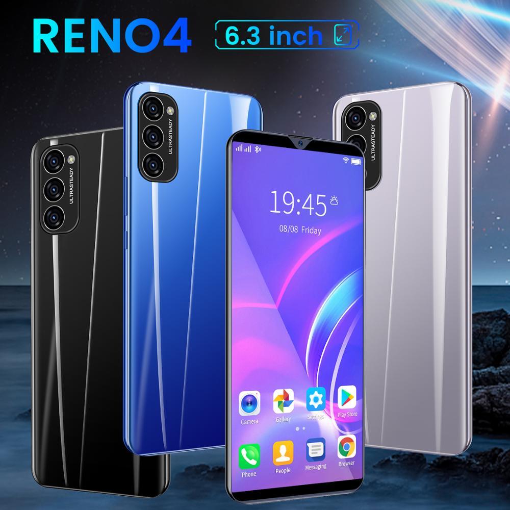 Cheapest Smart Phone CECTDIGI Reno 4 6.3 Inch Full Screen Smartphone Android 6.0 1GB RAM+8GB Unlocked Dual Sim Mobile Phone GPS