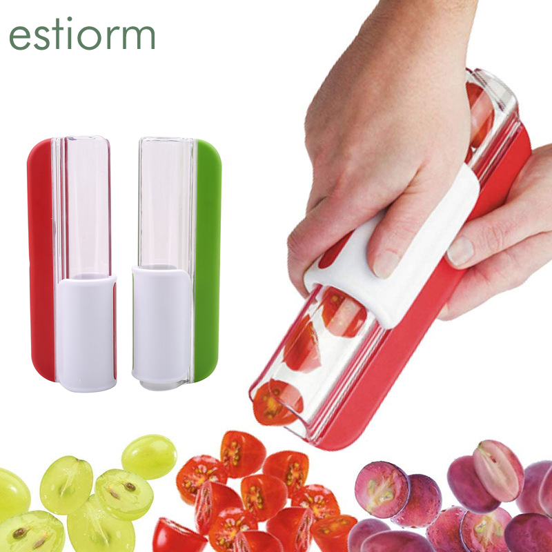 Grape Tomato and Cherry Slicer,Mini Vegetable Fruit Cutter,Zip Slicer for Easy Cutting, Kitchen Gadgets tools and accessories