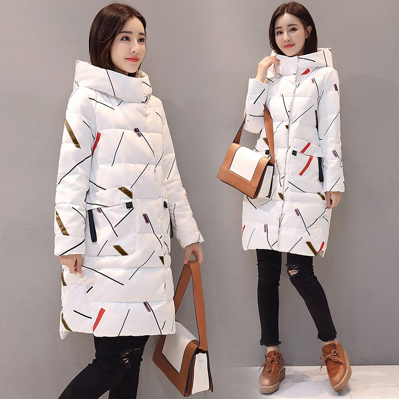 Parkas Women Coat Jacket Hooded Warm Elegant Winter Fashion Zipper Long Office Lady title=