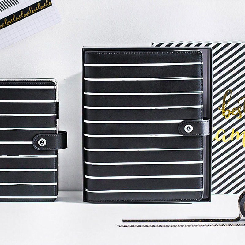 Lovedoki Cute Stripe Notebooks and Journals <font><b>2020</b></font> Year Agenda <font><b>Planner</b></font> Organizer Weekly Monthly Plan Diary School Office Supplies image