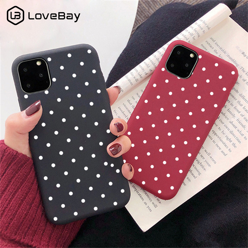 Lovebay Cute Wave Point For IPhone 11 Case For IPhone 11 Pro X XR XS Max 7 8 6 6s Plus 5 SE Candy Soft TPU Phone Case Back Cover