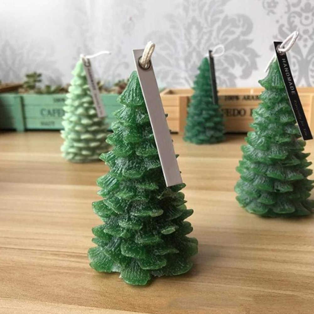 Cetakan Silikon 3D Pohon Natal Santa Claus Lilin Cetakan untuk DIY Lilin Sabun Hadiah Natal Membuat Kue Dekorasi Baking Alat