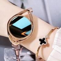 LEMFO-reloj inteligente de 1,09 pulgadas para mujer, accesorio de pulsera resistente al agua con control del ritmo cardíaco y de la cara, compatible con Android, LEM1995, 4 estrellas, diamante