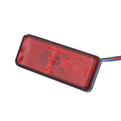 Universal Brake Light Car Motorcycle ATV SUV Brake Lights 12V Red 24 LED Stop Fog Tail Lights Singal Lamp Auto Accesorios