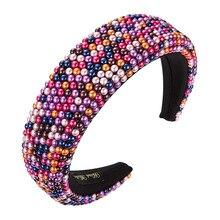 Headbands Rhinestones-Sponge Crystal Hair-Accessories772 Luxurycolorful Women Fashion