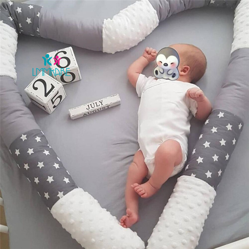Cotton Baby Crib Bumper Snake Safe Anti-collision Roll Cot Newborn Pillow Bed Bumpers Baby Bedding Set For Kids Bed Room Decor
