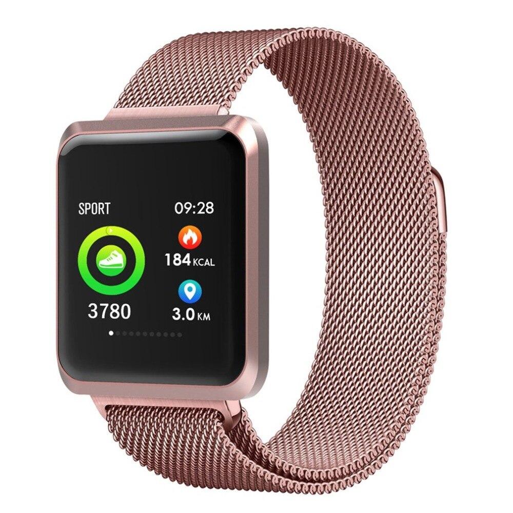"""Tüketici Elektroniği'ten Akıllı Saatler'de 1.3 """"dokunmatik ekranlı akıllı saat Bluetooth Pedometre ile Analizi Uyku Izleme Bandı iPhone Android Smartphone için title="""