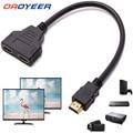 30cmhdmi-совместимый разветвитель-кабель 1 штекер-двойной HDMI-совместимый 2 гнезда Y-образный разветвитель-адаптер в HDMI-совместимый HD светодиодн...