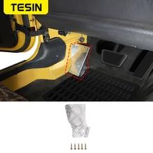 TESIN Pedals for Jeep Wrangler TJ 1997 2006 Car Left Foot Rest Pedal for Jeep Wrangler TJ 1997 2006 Aluminum alloy Accessories