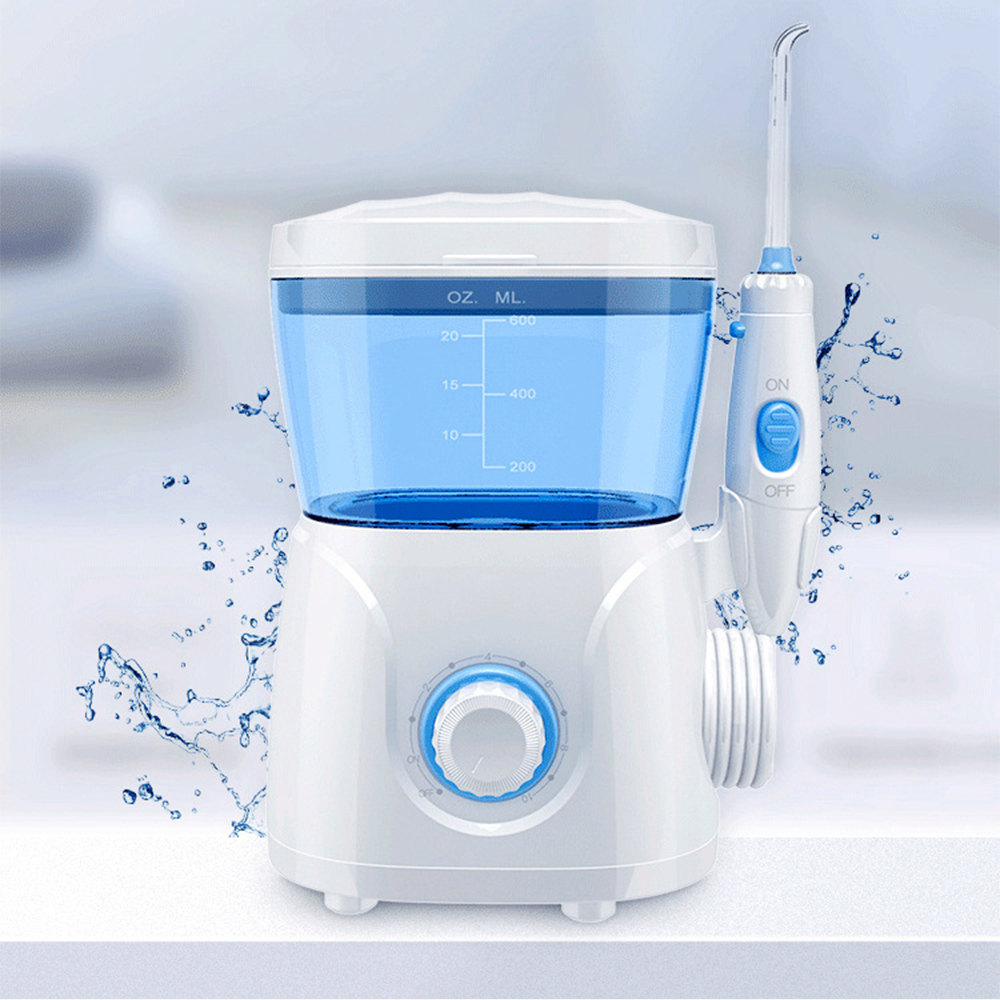 Rechargeable Electric Oral Irrigator Portable Water Dental Flosser Teeth Cleaner Pick Spa Clean Tooth With 8 Water Floss Tips Oral Irrigators     - title=