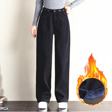 Classical black thick velvet corduroy sweatpants women vinta