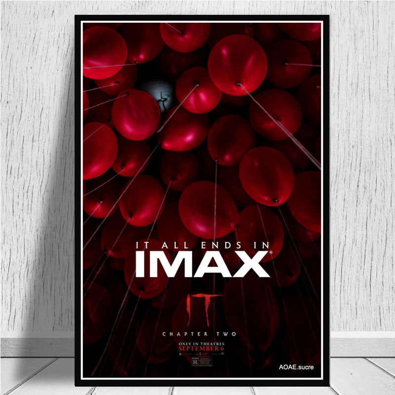 A3 size HD print IT chapter 2 Pennywise Movie Cinema poster