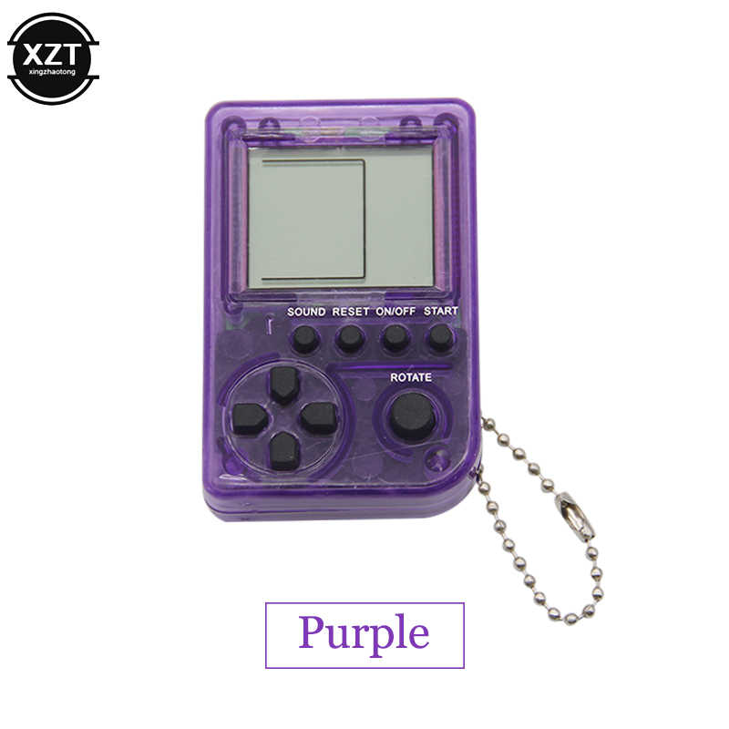 ミニ古典的なゲーム機子供のハンドヘルドレトロなノスタルジックなミニゲームコンソールキーホルダーテトリス電子ビデオゲームギフト
