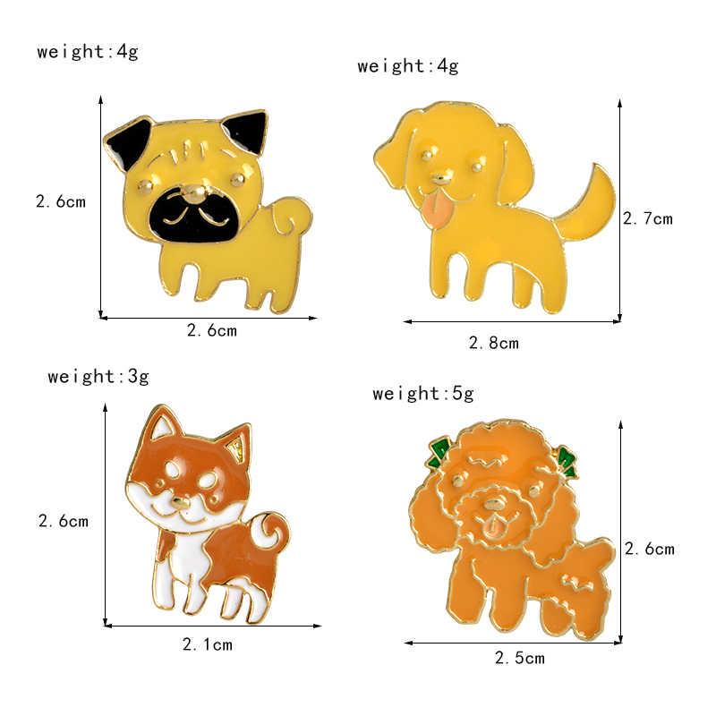 Vari di Razza Cuccioli Risvolto Spilli Cani Bella Smiley Viso fuori la Lingua Spille Distintivi e Simboli Zaino Spilli Gioielli Regali Per Gli Amici