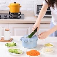 11 Function Manual Slicer Potato Strip Crisps Cutter Grater Egg Separator Juice Extractor Garlic Grinder Vegetables Salad Bowl|Manual Slicers|   -