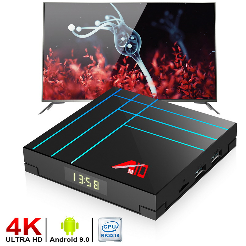 DIDIHOU Mini  BOX  WiFi Set Top Box Android 9.0 TV Box 2GB/4GB RAM 16GB/32GB/64GB  4K Full  Dual USB 3.0 And 2.0