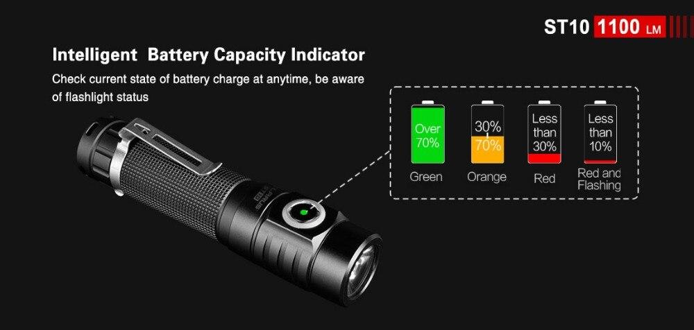 u2 1100lm iluminação ao ar livre bateria