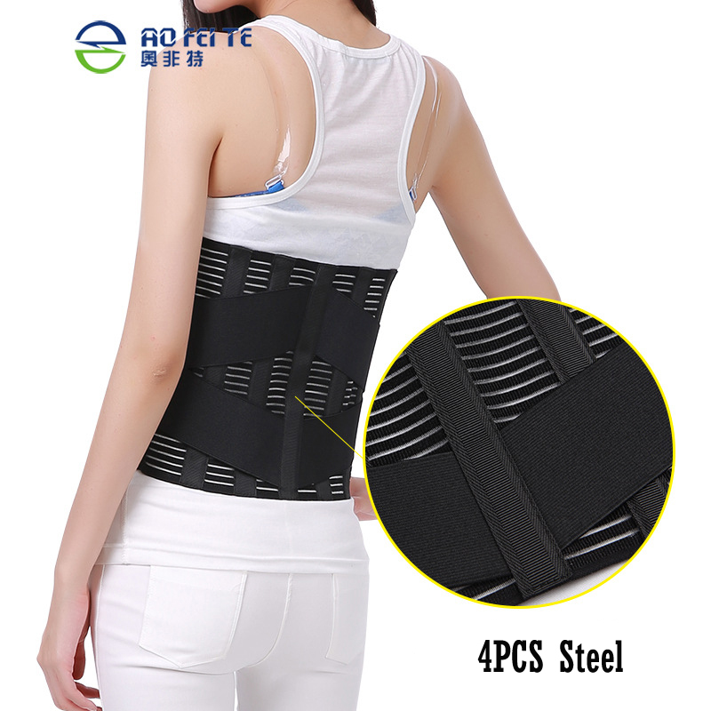 Health Care Waist Support Lumbar Belt Back Brace Bandage For Pain Relief Posture Corrector Gym Fitness Waist Protect 1