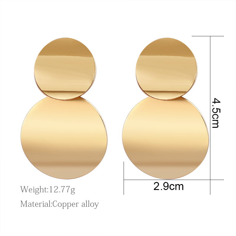 H23bc2aca71af48b2a675b97049cf182f0 - Hot Women Earrings Gold Drop Earrings For Women Statement Big Geometric Hanging Dangle Earring Brincos Vintage Jewelry