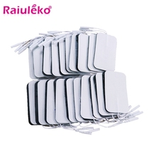 20/50 pcs/9x5cm/2mm Plug Reusable Tens Electrode Pad For Pulse Digital Acupuncture Therapy Massager/Electrical Muscle Stimulator