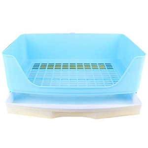 Large Rabbit Litter Box with Drawer, Corner Toilet Box with Grate Potty Trainer, Bigger Pet Pan for Adult Guinea Pigs, Chinchill(China)