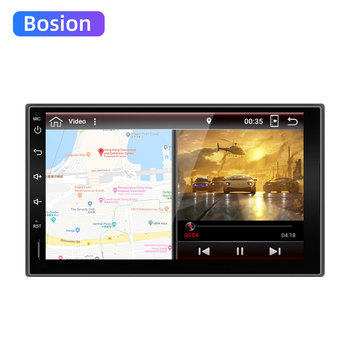 Bosion 7 1 din Android 10.0 car DVD player HD Touch Screen 1080P Video GPS Stereo audio with Screen Mirroring OBD2 2.5D Screen image