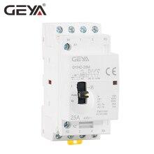GEYA Manual Contactor 4P 16A 20A 25A 4NO OR 2NO2NC 220V/230V 50/60HZ Din rail Household AC Modular Contactor стоимость