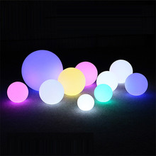 LED Garden Lights Ball Waterproof Colorful Lawn Lamps Floating Pool Ball Light illuminated Outdoor Holiday Lighting Decoration
