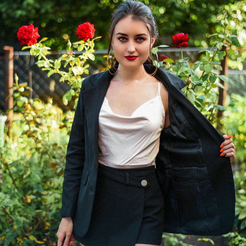 Blazer Women 2020 Casual Plus Size Fit Black Autumn 2020 Chic Korean Style Jacket Back Split Buttons Long Sleeve Work Coat