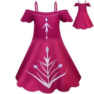 2020 Новый Аниме Косплей «Холодное сердце» 2 платья Эльзы ребенок», «queen», «princess», «Красное платье на петельках; карнавальные костюмы на Хэллоу...