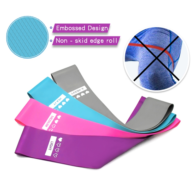 Yoga Belt Non-Slip Resistance Bands Emulsion Training Pull Rope For Sports Pilates Expander Fitness Gum Gym Workout Equipments