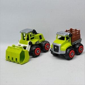Image 4 - New 4 pcs in 1 set, DIY Farmer Screwing Blocks, Assembled Farm Tractor Car, Educational Toys Building & Construction Truck Model