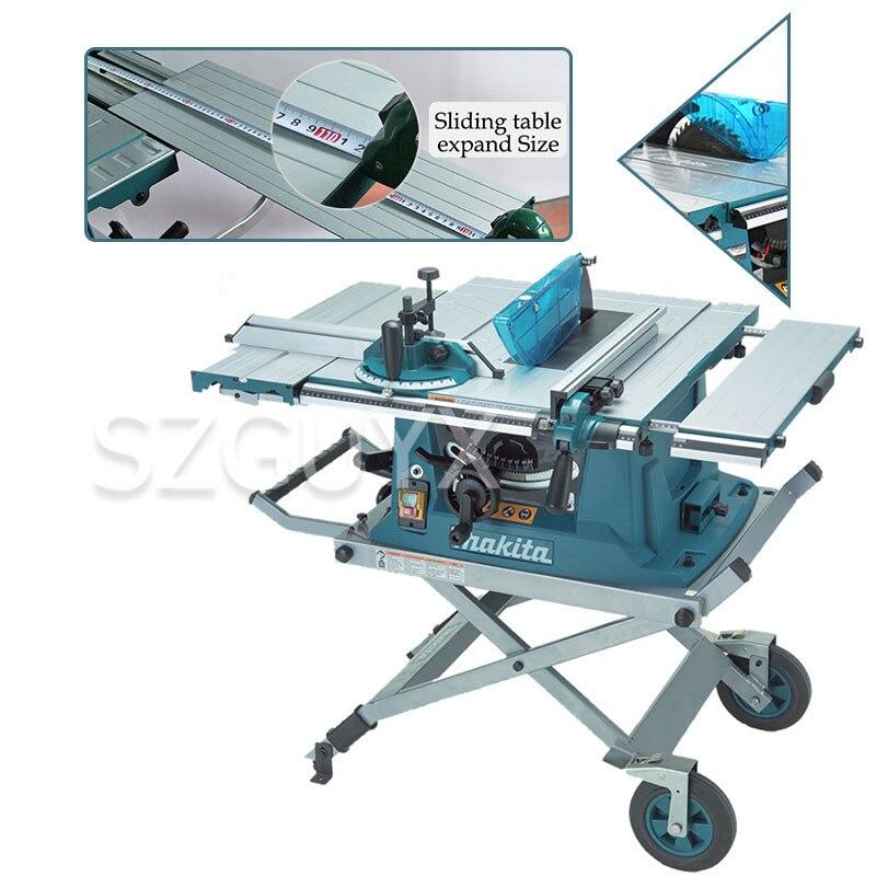 1500W Multifunctional Woodworking Cutting Machine 10 Inch Electric Cutting Machine Bench Woodworking Chainsaw Table Saw Bracket