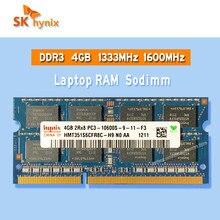 SK Hynix ddr3 4GB 1333MHz 1600MHz RAM Sodimm dizüstü bellek pc3-8GB 8500S 10600S 12800S