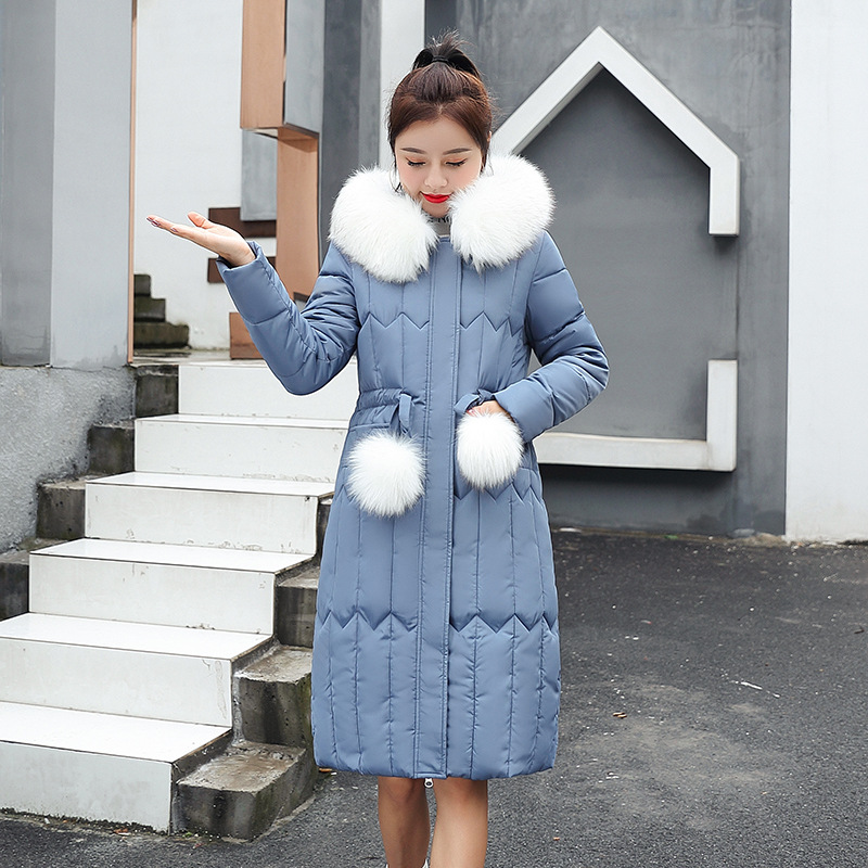 Cotton-padded Clothes Women's 2019 Winter New Style Korean-style Slim Fit Thick Down Jacket Cotton-padded Clothes Off Season Lar