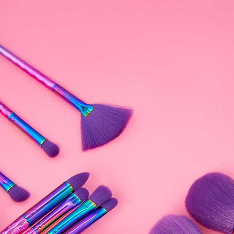 Berlian Unicorn Makeup Brushes Set 20 Pcs 3D Mermaid Riasan Sikat Kosmetik Kuas Perona Mata Kuas Blush Foundation Sikat