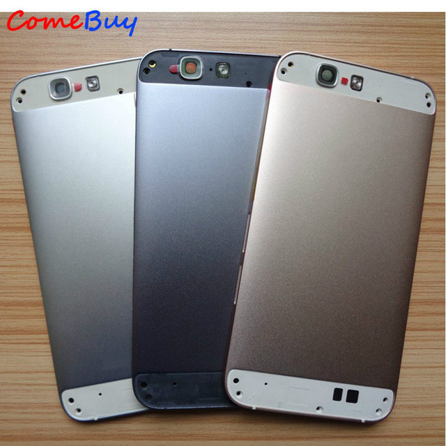 Крышка батарейного отсека для Huawei G7, задняя крышка корпуса, Крышка батарейного отсека для Huawei Ascend G7 + кнопка регулировки громкости питания + Верхняя Нижняя крышка