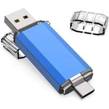 Pen drive usb 3 em 1 usb3.0 & tipo c otg pen drive 32gb 64gb 128gb 256gb 512gb pendrive usb de alta velocidade