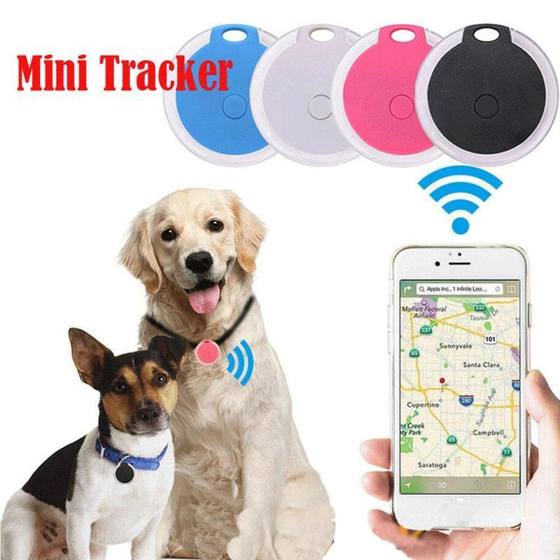 Mini Small Round Bluetooth Anti-Lost Smart GPS Tracker Location Finder Key Waterproof For Children Pet Old People Cat Dog SOS