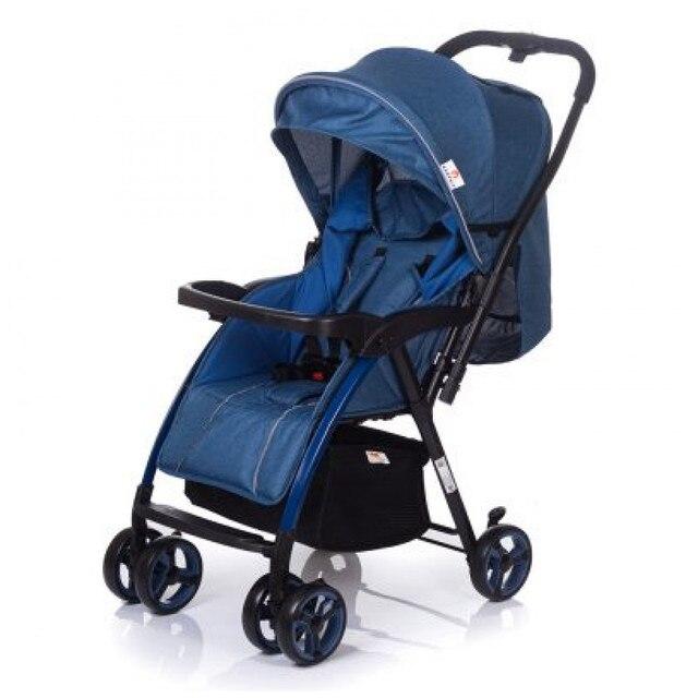 Прогулочная коляска с перекидной ручкой Babyhit Floret, синяя, от 7 до 36 мес.