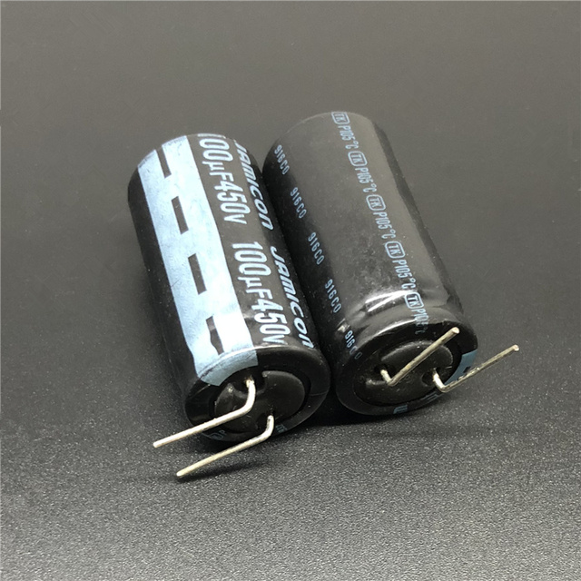2Pcs 100uF 450V JAMICON TK Series 18x35mm High Quality Original 450V100uF Aluminum Electrolytic capacitor