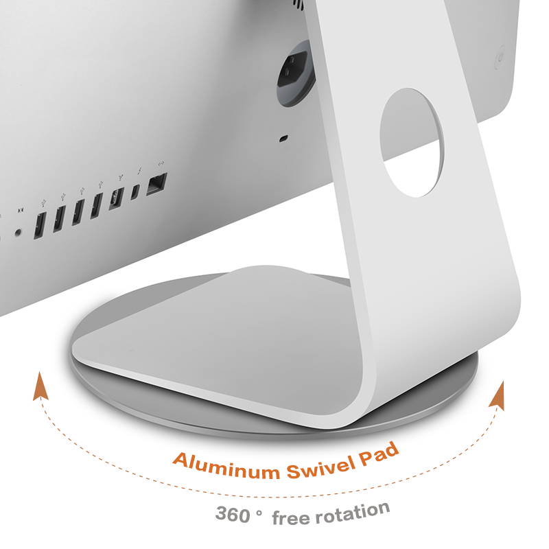 Computer Monitor Base Stand 360 Rotation Non-slip Laptop Aluminum Alloy for Apple iMac Television Projector phone Stand Dock image