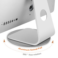 Computer Monitor Base Stand 360 Rotatie Antislip Laptop Aluminium Voor Apple Imac Televisie Projector Telefoon Stand Dock(China)