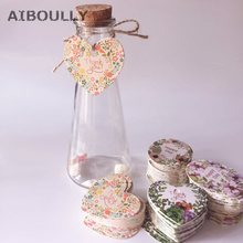 50pcs Design Thank YouHappy day Gift Tags Paper Label Packaging Wedding Birthday Favors DIY Party Accessories