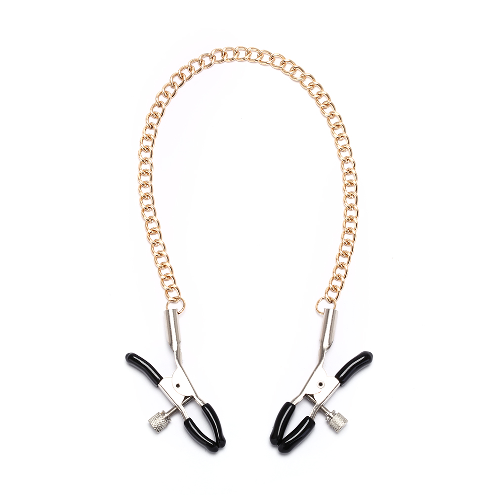 Long Metal Nipple Clamps With Gold Chain Erotic Nipple Clips Flirt Gags Fun Sex Toy For Women Men
