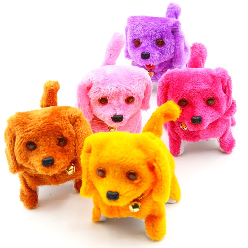 Hot Sales Electric Flat Hair Dog Toy Dog Electronic Forward Dao Tui Gou Children Electric Plush Toys