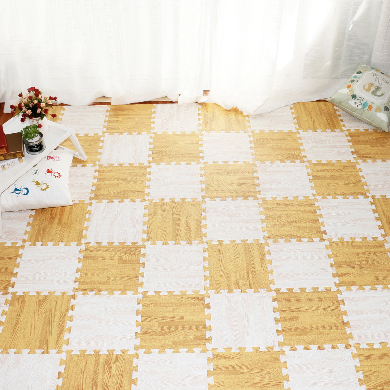 30X30cm 6pcs/set Wood Soft EVA Foam Play Mat Kids Puzzle DIY Toy Floor Carpet kids Rugs Toys carpet for childrens Home Textile image