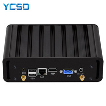 HLY Mini Pc Intel Core i7 4500u i5 i3 2955U Windows 10 7 Linux VGA HDMI 8xUSB Micro Fanless