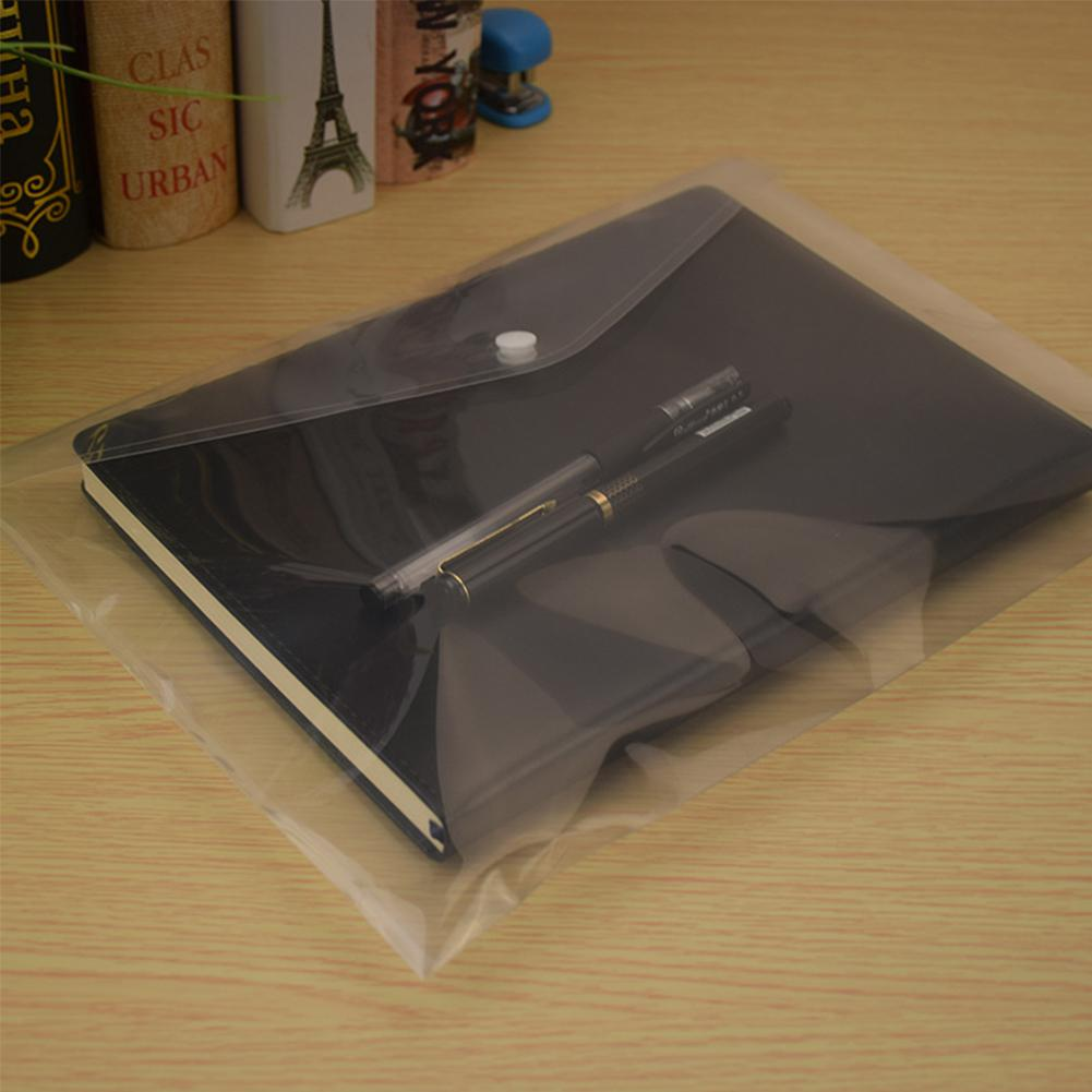 Adeeing Transparent A4 Document File Bag Envelope Holder Storage Case Snap Button Organizer Container For Papers D20